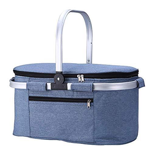 Kylinyyl Große isolierte Tasche Picknick-Einkaufstasche für Camping im Freien, Strandtag oder zusammenklappbare Aufbewahrungstasche für den Lebensmitteleinkauf