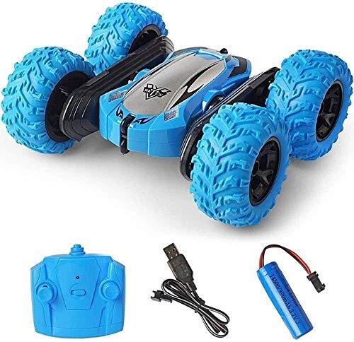 HYLX Coche de Control Remoto Todoterreno, 4WD RC Car Toys 2.4Ghz Control Remoto Stunt Buggy Vehículos 7KM / H Regalos para niños Niñas Juego de Interior al Aire Libre Cumpleaños Navidad
