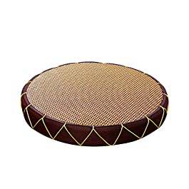 Coussin japonais en tatami, épaissi à la main Coussin, Le coussin de yoga a épaissi des tapis en cuir ronds futon de…