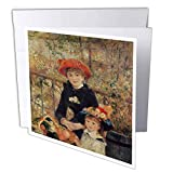 3dRose on The Terrace, 1879 by Pierre-Auguste Renoir - Greeting Cards, 6 x 6', Set of 6 (gc_169789_1)