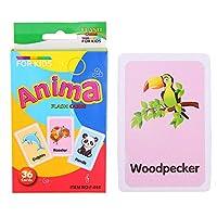 Largesoy 早期教育カード 学習カード 認知絵カード 漫画 視覚刺激 色認識 脳の発達 キッズ 教育おもちゃ 動物