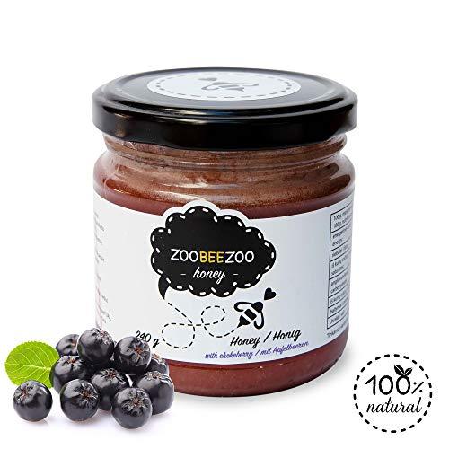 Pure honing met appelbessen - biologische honing van hoge kwaliteit - zo gezond als Manuka-honing uit Nieuw-Zeeland - echte bloesemhoning (240g)