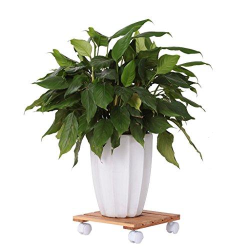 $Etagère d'exposition Support de fleur en bois massif Petit support de fleur mobile Salle de séjour d'intérieur Balançoire Pot de fleur ( Couleur : A )