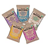 Bearded Brothers Vegan Organic Energy Bar | Gluten Free, Paleo and Whole 30 | Soy Free, Non GMO, Low Glycemic, Packed with Protein, Fiber + Whole Foods | 5 Flavor Variety Pack | 12 Pack