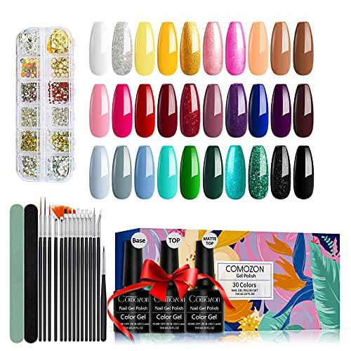 Esmaltes Semipermanentes de Uñas Kit Uñas de Gel Uñas de Gel Kit Completo Gel de Uñas de Gel...