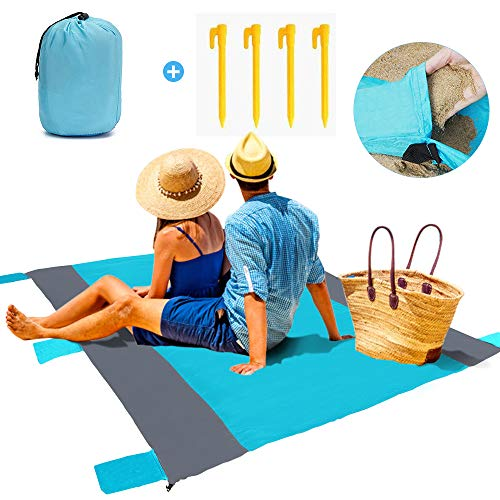 trounistro Picknickdecke, 200 * 200 cm, Outdoor Stranddecke Picknick Matte Campingdecke Outdoordecke Sitzunterlage wasserdichte Ideal für Strand, Reisen, Festival, Camping