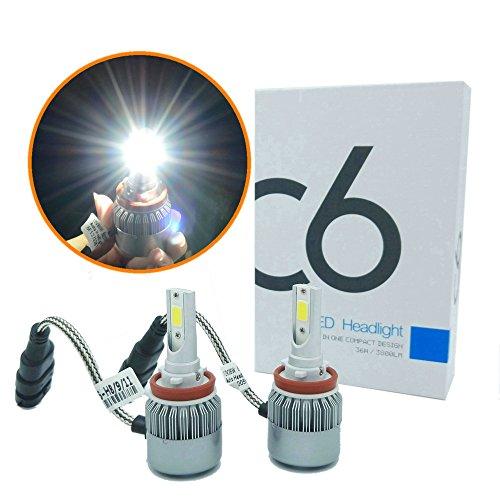 Heinmo H11/H8/H9 Kit d'ampoules LED pour phare 6000 K haute puissance