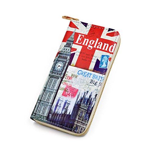 Premium British Union Jack Flag London City Print PU...