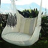 Holzenplotz Hängesessel Hängematte Hängestuhl aus Baumwolle mit 2 Kissen 3