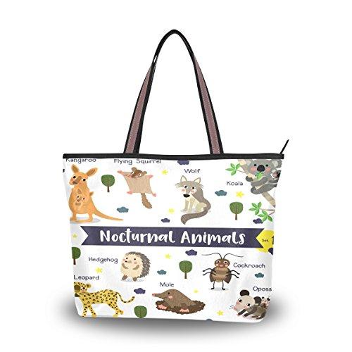 Ahomy - Bolso bandolera con diseño de animales de Koala, leopardo, canguro,...