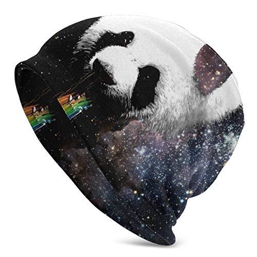 FETEAM Gorro Slouch Beanie, Transpirable, Ligero, Elástico, Suave Gorra de Calavera Panda Arcoiris