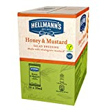 Hellmann's Salsa Miel y Mostaza Monoporciones para ensalada, sin gluten y vegetariana - 50 Sobres 30ml