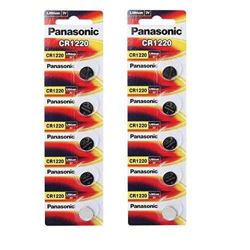 Panasonic 10 X CR1220 3V Lithium Single Use Batterien -