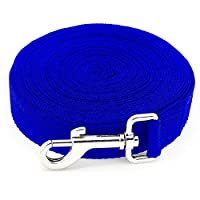 【LONG NYLON TRAINING LEASH】 This Dog training leash is great for teaching your dog treats or recalls. Allows you to teach your dog recalls and other obedience skills. The 10meters/32Feet long dog lead is used for train the re-call of your pets like S...