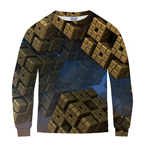 Hey shop Personality Swirl 3D Digital Printing Couple Sweater