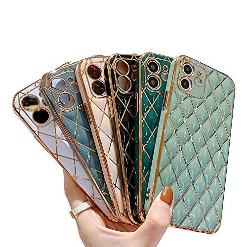 El nuevo caso del teléfono móvil para el iPhone Straight Edge Galvanoplastia de silicona esmerilada todo incluido Anti-gota para Samsung Galaxy Huawei Oppo VIVO (rosa, iPhone 7/8/SE2)
