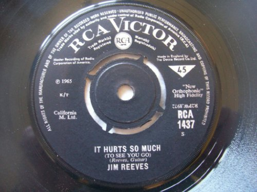 JIM REEVES It Hurts So Much Wishful Thinking 7  45