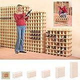 Sistema Botellero modular PRIMAVINO, máx. 9 botellas, pino natural, apilable/ampliable -...
