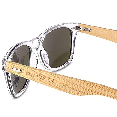 Navaris occhiali da sole in legno UV400 - occhiali...