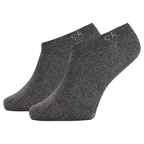 Calvin Klein Socks Mens Herren Sneakersocken ECP250G, Schwarz, 43/46 Socks, Dark Grey Melange