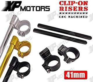 "New Arrived Motorcycle 41Mm Billet Clip-Ons 1"" Riser Handlebars For Kawasaki Zx750 Zx-7/7R 1991 1992 1993 1994 1995"