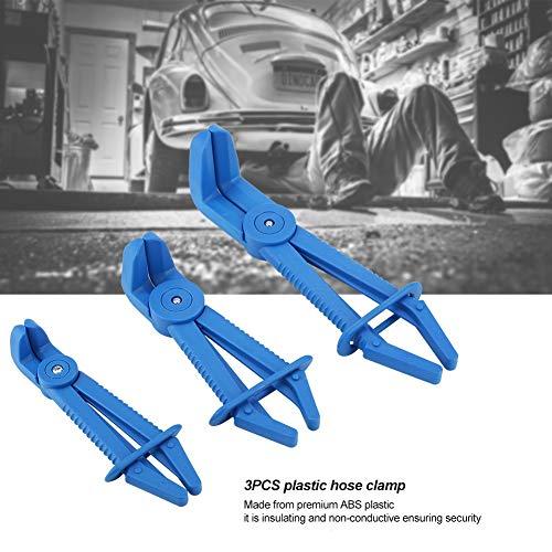 GXMZL Schlauchschelle Tool - 3Pcs Leitungsklemmen Flexible Schlauchschellen Zange Kit, Schlauch abklemmen Zangen Set Line Klemmen for Bremsschläuche, Kraftstoffschläuche, Kühlmittelschläuche (blau)