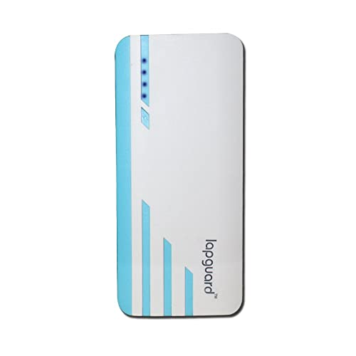 Lapguard 10000 mAh Power Bank for Mobile , Mi, Lenovo , Intex , Xiaomi , All mobiles , Tablets (White-Blue)