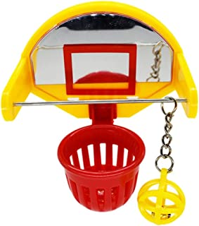 VILLCASE Bird Intellective Toy-Mini Basketball Toys Funny Parrot Training Toys Chew Activity Toy Cage Accessories for Budgie Parakeet Canary