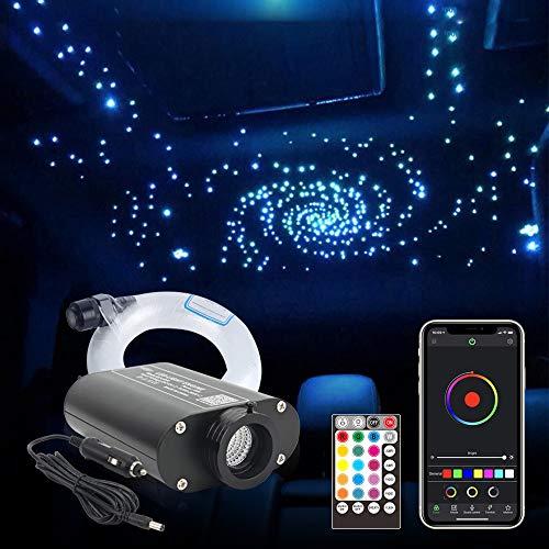 CHINLY Bluetooth 16W RGBW LED Kit de luces de techo de estrella de fibra óptica APLICACIÓN / Control remoto 260PCS * 0.75MM * 2M Fibra óptica para el hogar / el automóvil