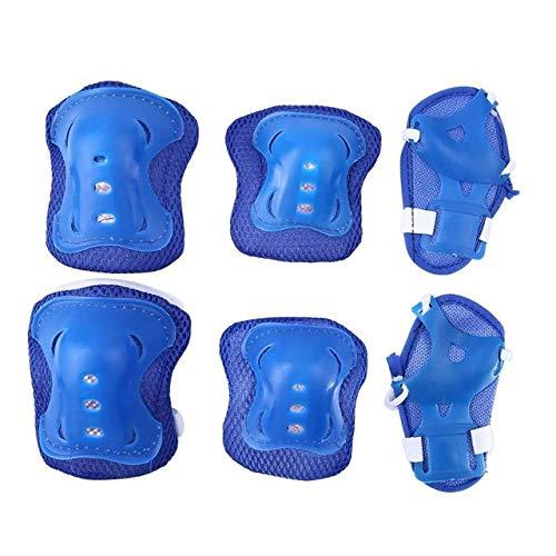 SHUHUAN 6 Stück/Set Rollschuh Handgelenk Knie Ellbogenschutz Set Kinder Reiten Knieschützer Schutz Outdoor Kindersportschutz