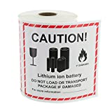Lithium Ion Battery Handling Labels - 300 Labels/Roll