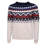 PAOLO PECORA 5535Z Maglione Uomo Wool Multicolor Roundneck Sweater Man [M]