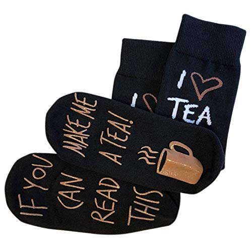 'If You Can Read This Make Me A Tea!' Funny Novelty Socks For Those People That Love Tea (Full Length Lounge Socks)