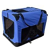 Hundetransportbox Hundebox faltbar Transportbox Autotransportbox Faltbox Transportasche 401-D01 royal blau Grösse: S - 49cm x 34,5cm x 34,5cm