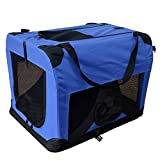 Hundetransportbox Hundebox faltbar Transportbox Autotransportbox Faltbox Transportasche 501-D01 royal blau Grösse: L - 70cm x 52cm x 52cm