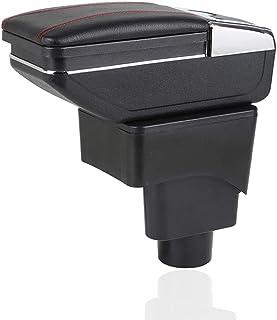 صندوق مسند ذراع للسيارة فورد ايكوسبورت 2013-2017 داخلي من جلد البولي يوريثان المركزي محتوى صندوق كوب حامل منفضة سجائر