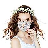 Generic 20 Stück Damen Mundschutz mit Motiv Maske Tücher Atmungsaktiv Mund-Tuch Bandana Halstuch Schals (l)