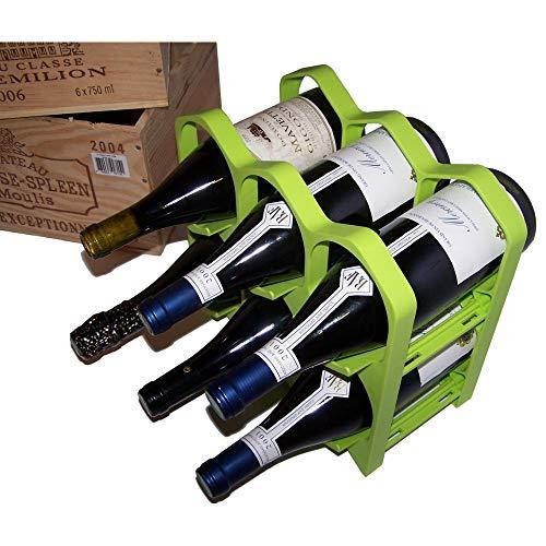 Drinkcase Casier Bouteille Range Bouteilles empilable et déco Couleur Vert Kiwi
