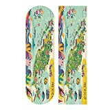 KLL Mexico Map Skateboard Grip Tape Sheet Scooter Deck Sand Paper 33.1' x 9.1' The Choice of pro Skaters Worldwide