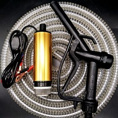 IGOSAIT Bomba de aceite 24V Combustible Pistola 10m manguera de bombeo sumergibles Bombas Diesel coche Flujo 30L / min eléctrico Mini campo for la bomba de agua 24V (Voltage : Fuel Gun 10m Hose)