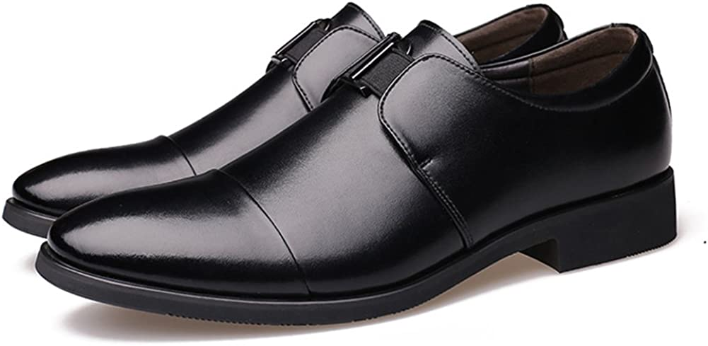 ZLY Men's Slip-on Business Dress Shoes Oxford Formal Shoes with Buckle