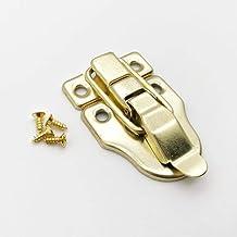 Antieke messing Zilver Golden Heavy Duty Kofferbak Toggle Vang Sieraden Borst Houten Wijn Doos Case Koffer Hasp Klink Lock...