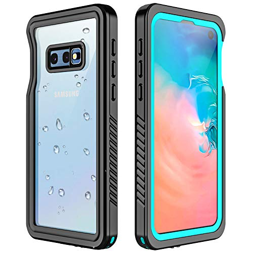 RedPepper Galaxy S10E Waterproof Case, Protective Clear Cover with Built-in Screen Protector,Support Wireless Charging IP68 Waterproof Shockproof Case for Samsung Galaxy S10E (Teal)