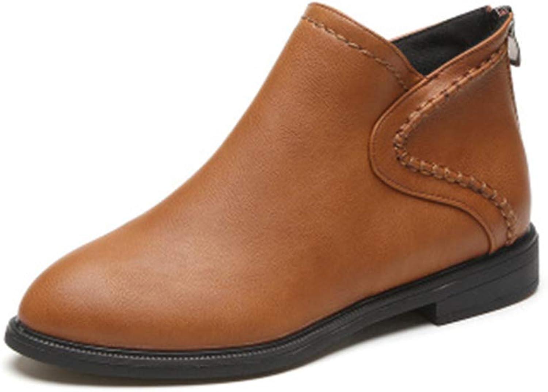 Gusha Popular Women's shoes Comfortable Booties Flat Martin Boots