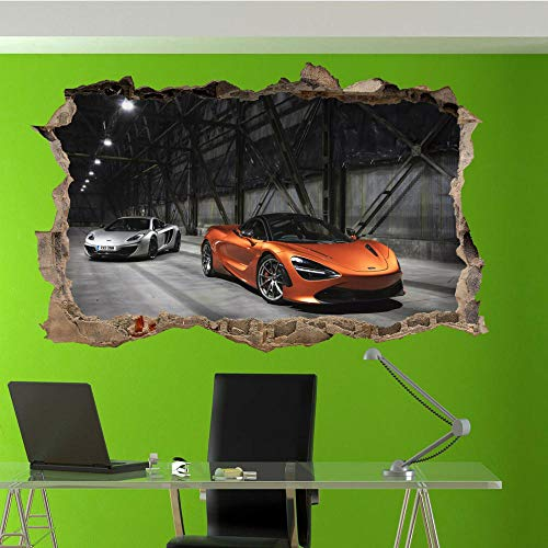 Adesivi Murali adesivo da parete Adesivi murali per auto sportive veloci Adesivi artistici 3D Decorazione murale per ufficio in camera 80 * 120CM