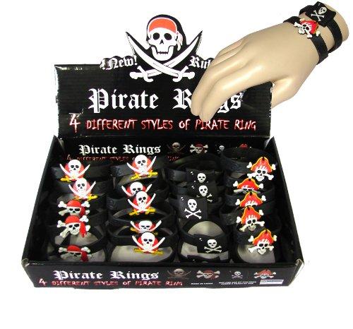 Lot de 24 Bracelets Assortis de Pirate en Plastique dans sa Boite