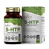 Ezyleaf 5-HTP Capsulas | 400mg de Semilla de Griffonia Simplicifolia | 180 Capsulas Veganas de 5HTP | Nootropico en Pastillas para dormir bien, Reduce el Estrés y Aumenta la Energía | Sin OGM