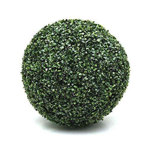 El boj Artificial Bola, la Bola plástica de la Planta Verde, Fade protección UV, balón colgado Topiary por un jardín al Aire Libre de Interior decoración de la Boda del Partido,60CM