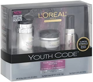 L'Oreal Paris Youth Code Regenerating Skincare Kit (Day Lotion, Day/Night Cream, Eye Cream)
