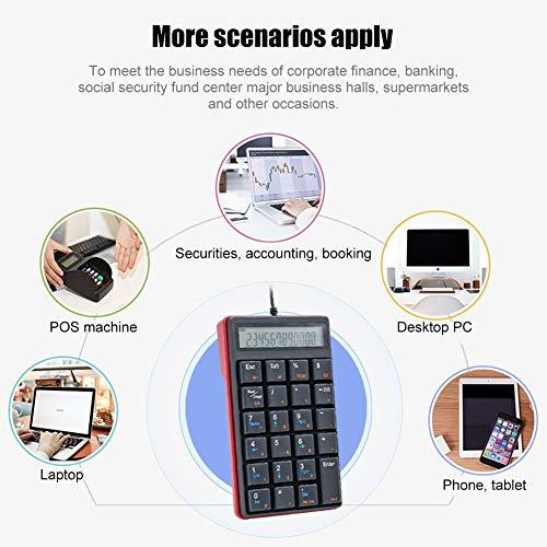 Matrix Keypad Keyboard Keypad USB Numerieke toetsenbord met USB-hub en scherm voor pc's en laptops
